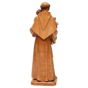 Antonius von Padua aus Grödnertal Holz patiniert s5