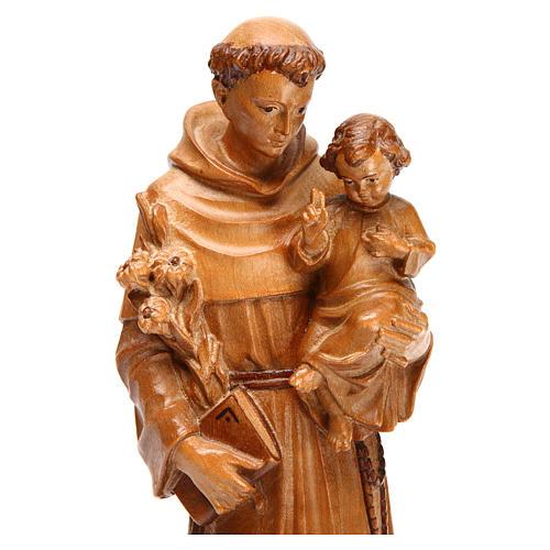 Antonius von Padua aus Grödnertal Holz patiniert 2