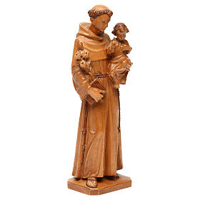 Saint Anthony with baby statue in multi-patinated Valgardena woo s4