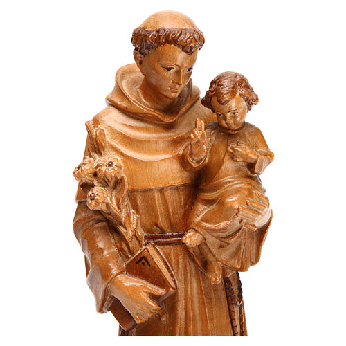Saint Anthony with baby statue in multi-patinated Valgardena woo 2