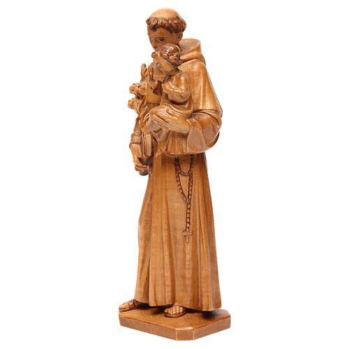Saint Anthony with baby statue in multi-patinated Valgardena woo 3