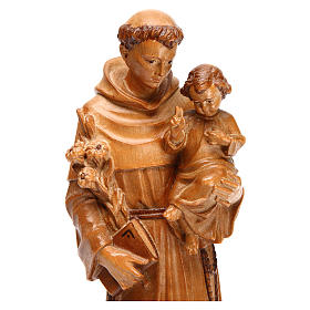 San Antonio con niño de madera multi-patinada de la Val Gardena