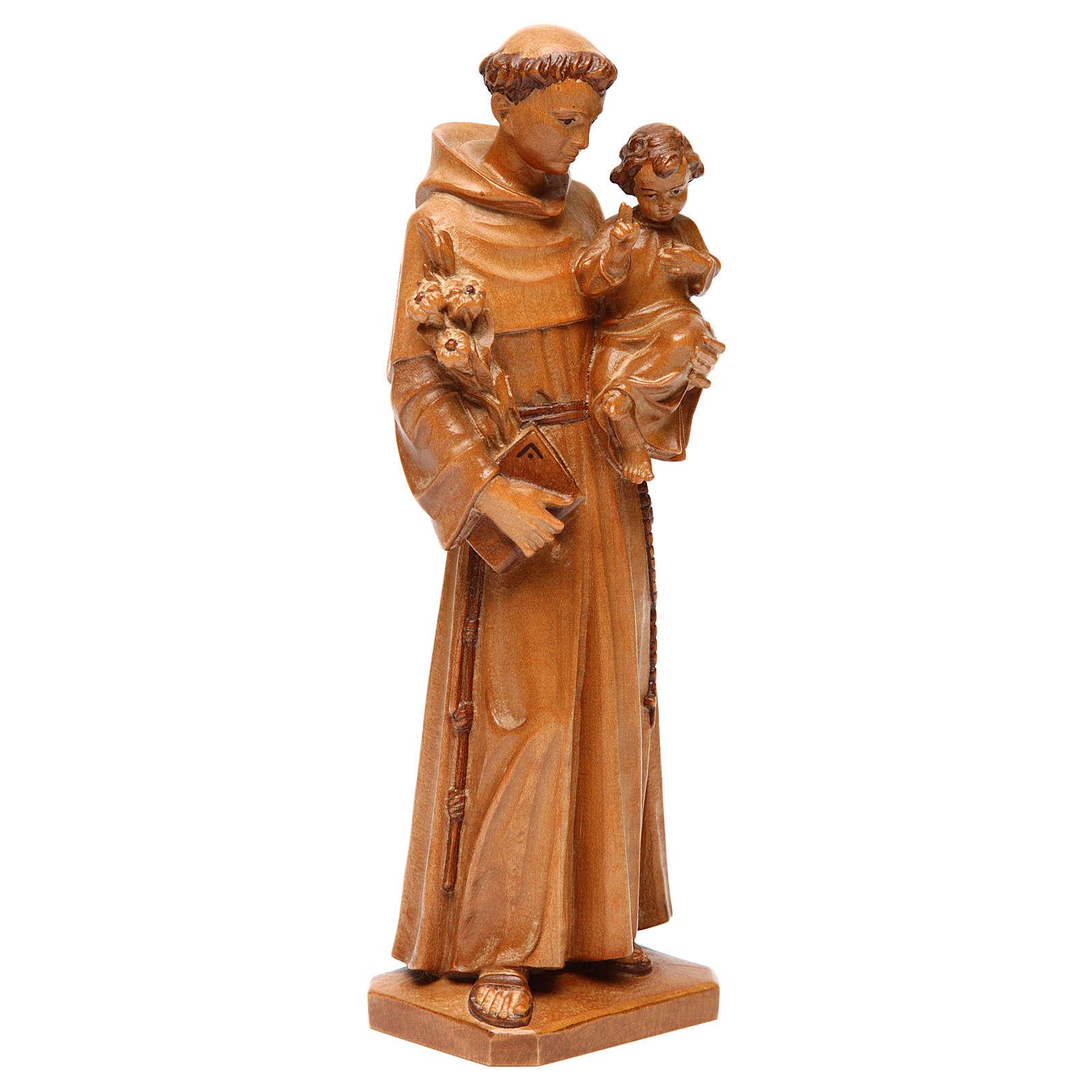 Sant'Antonio con bimbo legno Valgardena multipatinato 4