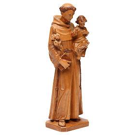 Sant'Antonio con bimbo legno Valgardena multipatinato s4