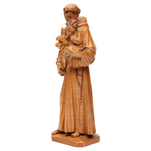 Sant'Antonio con bimbo legno Valgardena multipatinato 3