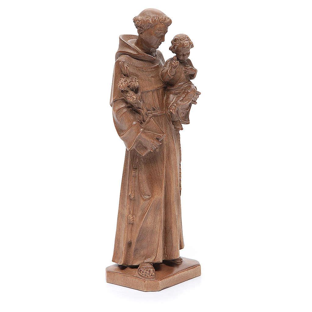 Sant'Antonio con bimbo legno Valgardena patinato 4