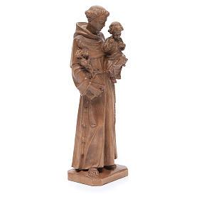 Sant'Antonio con bimbo legno Valgardena patinato s4
