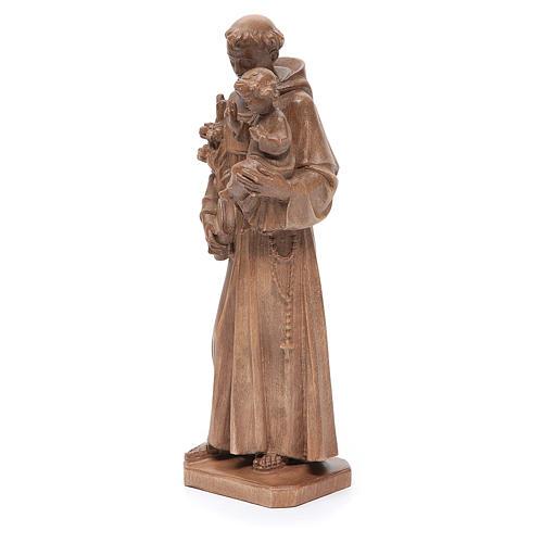 Sant'Antonio con bimbo legno Valgardena patinato 2