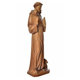 San Francesco d'Assisi legno Valgardena multipatinato
