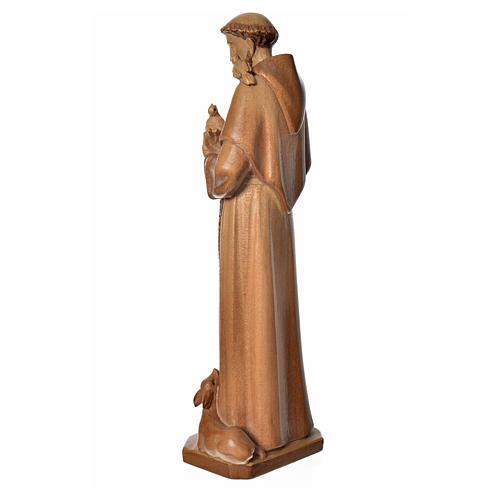 San Francesco d'Assisi legno Valgardena multipatinato 3