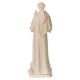 Saint Francis of Assisi statue in natural wax Valgardena wood s2