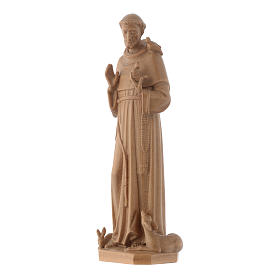 Saint Francis of Assisi statue in patinated Valgardena wood s3