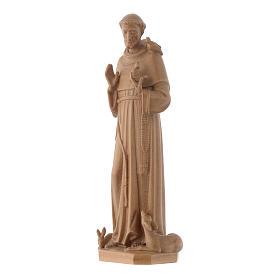 Estatua de San Francisco de Asís de madera patinada de la Val Gardena s3