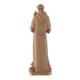 Estatua de San Francisco de Asís de madera patinada de la Val Gardena s4