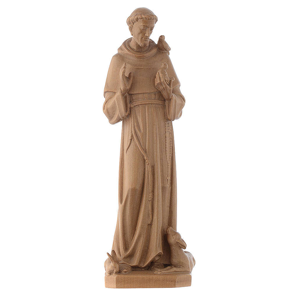 Saint François d'Assise bois Valgardena patiné 4