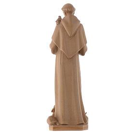 Saint François d'Assise bois Valgardena patiné s4