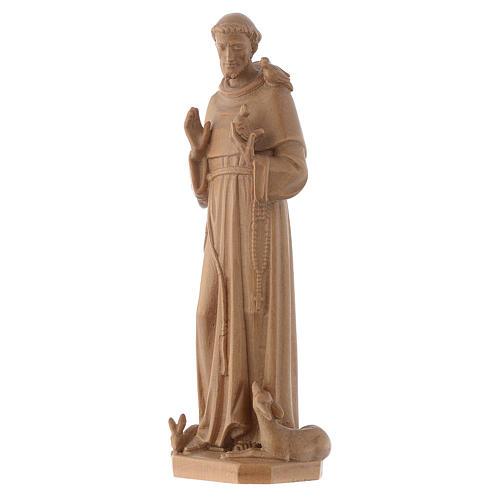 Saint François d'Assise bois Valgardena patiné 3