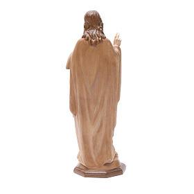 Sagrado Corazón de Jesús de madera multi-patinada de la Val Gardena s4