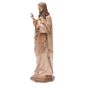 Sacro Cuore di Gesù legno Valgardena multipatinato s2