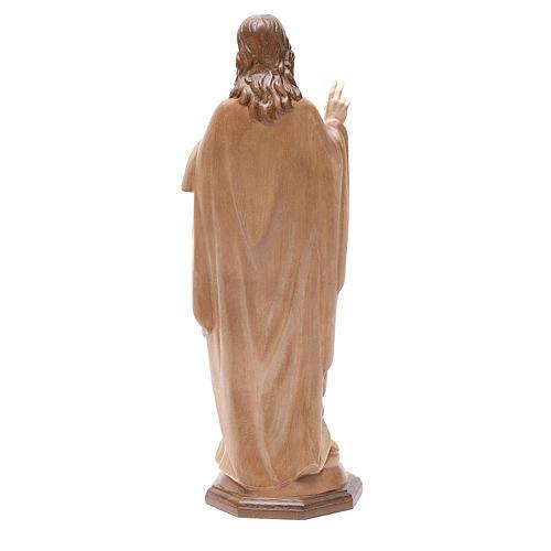 Sacro Cuore di Gesù legno Valgardena multipatinato 4