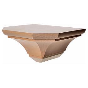 Mensola in legno naturale 19x21.5 cm s5