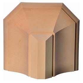 Mensola in legno naturale 19x21.5 cm s8