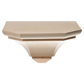 Mensola in legno naturale 19x21.5 cm s9