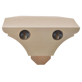 Mensola in legno naturale 19x21.5 cm s11