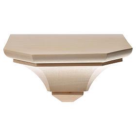 Mensola in legno naturale 19x21.5 cm s1