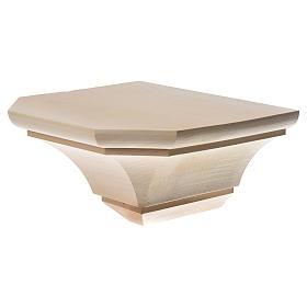 Mensola in legno naturale 19x21.5 cm s2