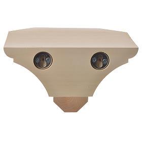 Mensola in legno naturale 19x21.5 cm s3
