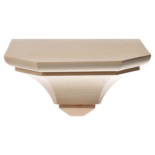 Mensola in legno naturale 19x21.5 cm 1
