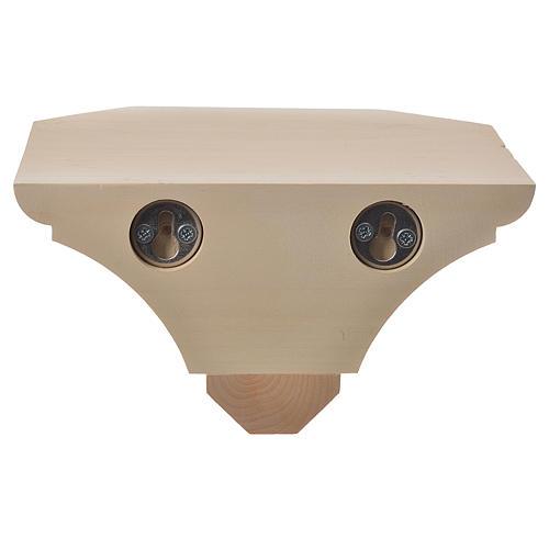 Mensola in legno naturale 19x21.5 cm 3