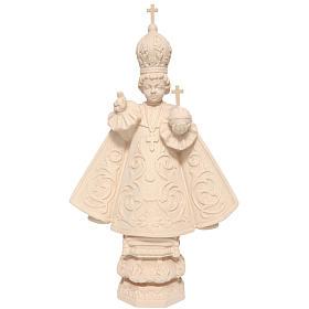 Menino Jesus de Praga madeira Val Gardena natural encerada s1