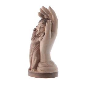 Main de Dieu avec petite fille bois patiné multinuances Valgarde s2