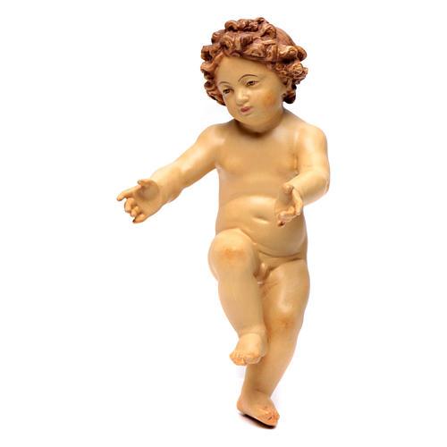 Bambinello Gesù in legno colorato con diversi marroni 1
