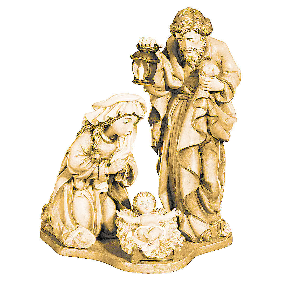 Holy Family in maple wood with shades of brown 4