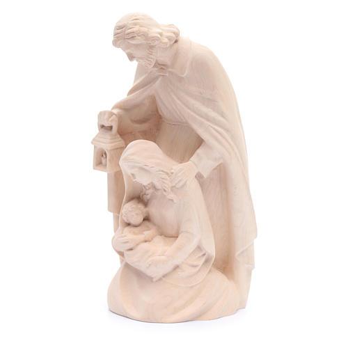 Statue Heilige Familie Naturholz 2