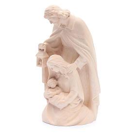 Estatua Sagrada Familia de madera natural s2