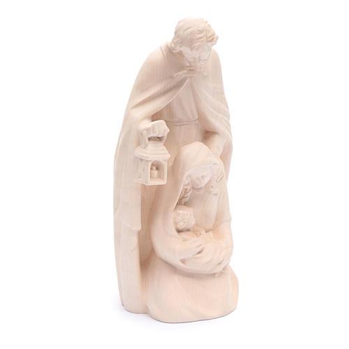 Estatua Sagrada Familia de madera natural 4