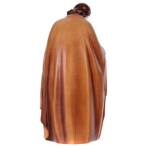 Estatua Sagrada Familia de madera, acabado con diferentes matices de marrón 5