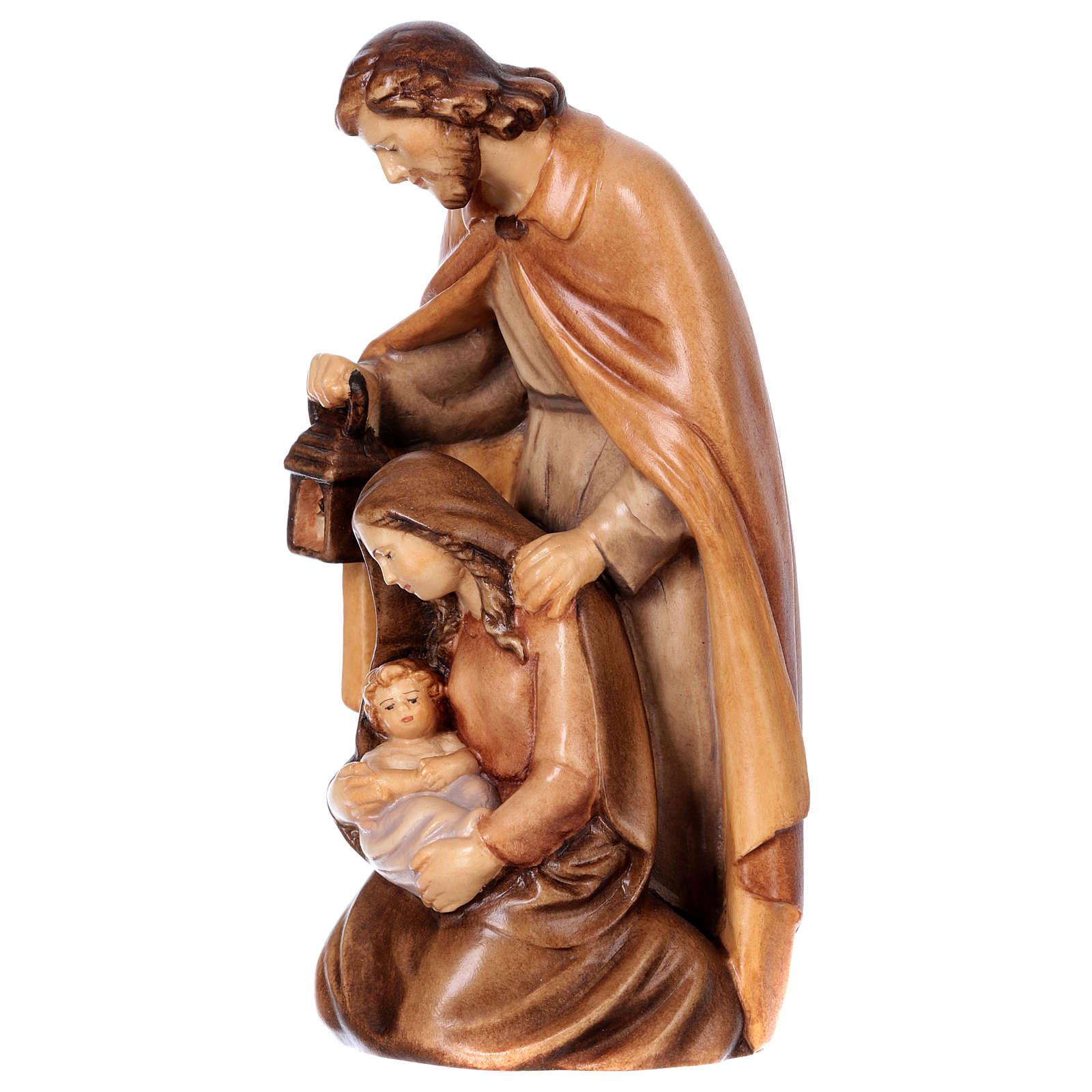 Sacra Famiglia in legno diversi colori di tonalità marrone 4