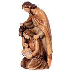 Sacra Famiglia in legno diversi colori di tonalità marrone s3