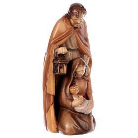 Sacra Famiglia in legno diversi colori di tonalità marrone s4