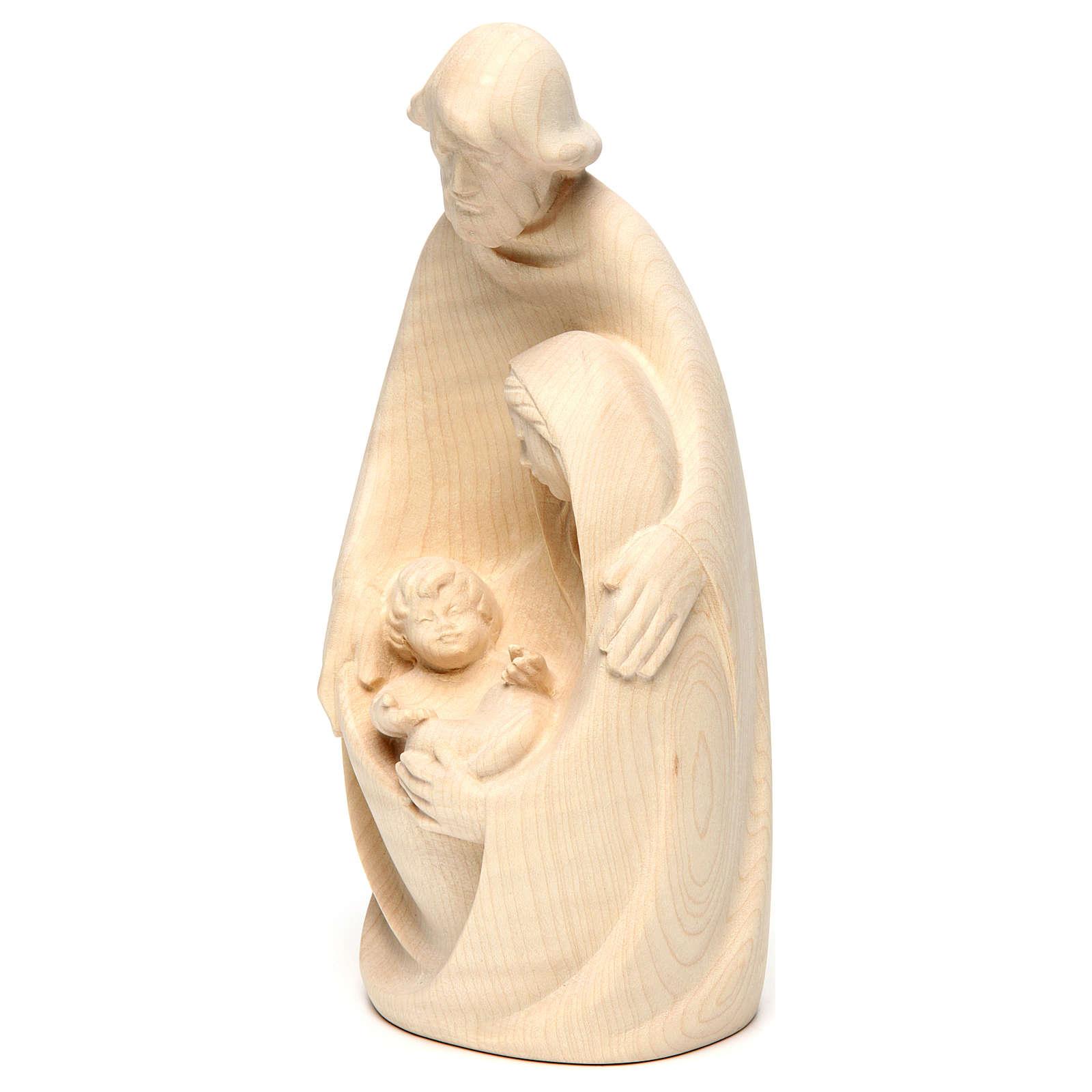 Sacra Famiglia in legno di acero al naturale 4