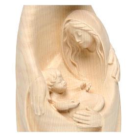 Sacra Famiglia in legno di acero al naturale s2
