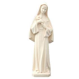 Saint Rita statue in natural wood s1
