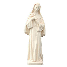 Statua Santa Rita in legno naturale s1