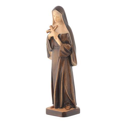Saint Rita wooden statue in shades of brown 2