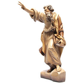 Saint Paul wooden statue in shades of brown s2